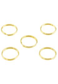 Ringetjes Dubbel 12 mm Goud