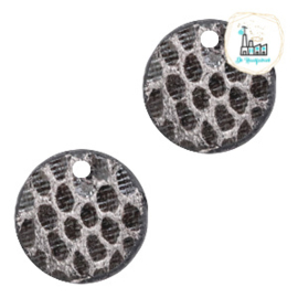 Mini Label Rond 17 MM snake Grey