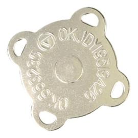 Magneet Knoop Nikkel 20 mm aannaaibaar extra sterk