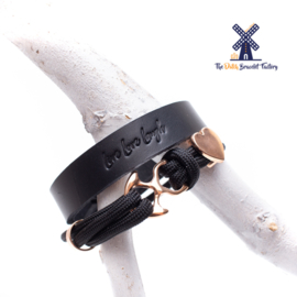 Leren Armband LIVE LOVE LAUGH 15MM