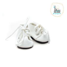 Schoentjes voor Amigurumi Poppetjes Wit met Veter