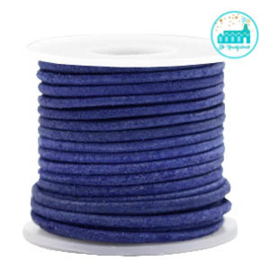 Round Leather String 2 mm Cobalt Blue