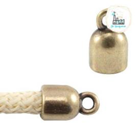 Eindkapjes DQ metaal (Ø5mm) Brons (nikkelvrij)