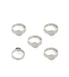 Metalen vingerring, voor bolsteentjes