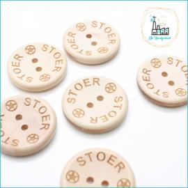 Wooden Buttons 30 mm 'Stoer'