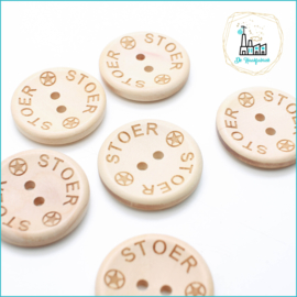 30 mm Houten Knoopjes Stoer Design De Haakfabriek