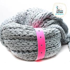 Sjaal Riempje Fluor roze 23 cm