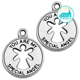 Metalen label You Are My Special Angel 21 mm x18 mm