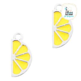 bedels citroen Zilver-geel 19 X 9 MM