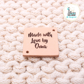 LEREN LABEL GELASERD MADE WITH LOVE BY OMA