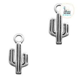 Bedels DQ metaal cactus Zilver (nikkelvrij)