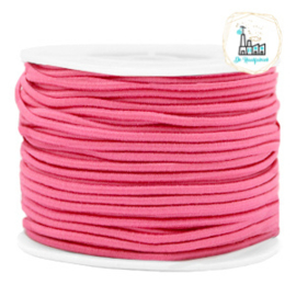 Koord Elastiek 1 meter 2 mm breed FUCHSIA
