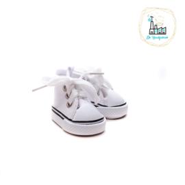 Sneakers voor Amigurumi Poppetjes Wit