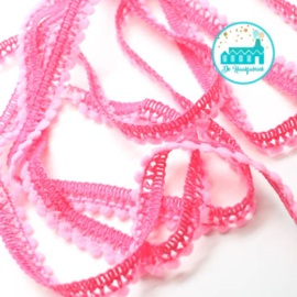 Mini Pompon Strip Soft Pink 1 meter