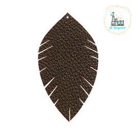 Imi leer hangers leaf Zwart
