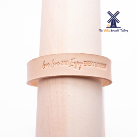Leren Armband LOVE LIVE AND ENJOY EVERY MOMENT 15MM