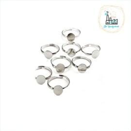 Ring verstelbaar met plaatje van 10 MM