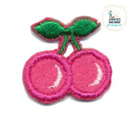 Applicatie kersen Roze 2,5 cm x 2,5 cm