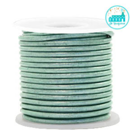 Round Leather String 2 mm Pastel Green
