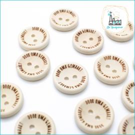 20 mm Houten Knoopjes Door Oma Gemaakt Design De Haakfabriek