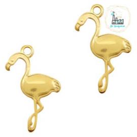 Bedels DQ metaal flamingo Goud (nikkelvrij)