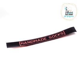 Sokken Labels zwart roze