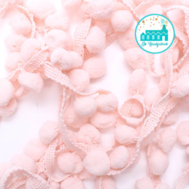 Pompon Strip Light Pink 1 meter / pompons 1 cm