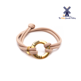 The Dutch Bracelet Factory Originals Love Faith Hope 046 Gold