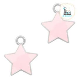 bedels ster Zilver-Pink 14 x12  MM