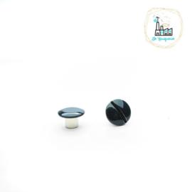 Schroefsluiting 5 mm x 5 mm Zwart voor Tas Hengsels of voor Leren Labels te bevestigen.