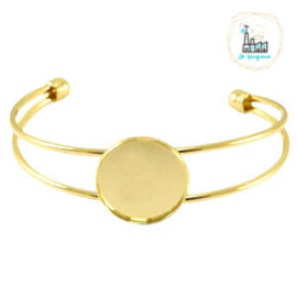 Armbanden rond 20 mm Goud Kleurig