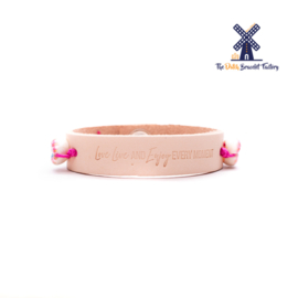 Leren Armband Love Live and Enjoy Every Moment 001