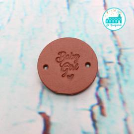 Ronde Leren label 3,5 cm Baby Girl