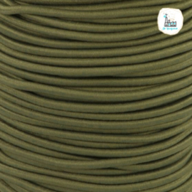 Koord Elastiek Groen 1 meter 3 mm breed