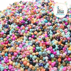Rocailles 4MM 200 gram Mix