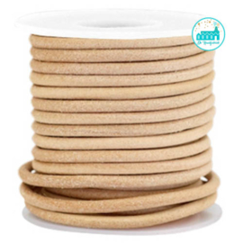 Imi Leather stitched Bag String Naturel 4 mm