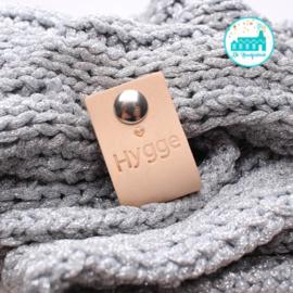 Big Labels with Push-Button Naturel 10 cm x 3 cm 'Hygge' Cal 2017 Scheepjes