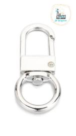 Sleutelhangers 53x23,5mm Zilver