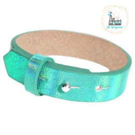 Cuoio armbanden leer 15 mm  Holographic Green