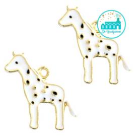 Charm Giraffe White 20 mm x 13 mm