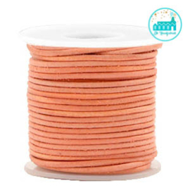 Round Leather String 1 mm Orange