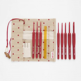 TULIP ETIMO RED HAAKNAALDEN SET SOFTGRIP