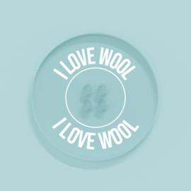 Kunststof Knoopje 25MM I Love Wool