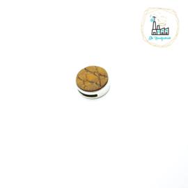 SCHUIVER VOOR LEREN TASKOORD 3 MM Zilver/Cognac print Leer