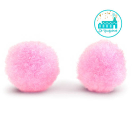 Mini Pompons 15 mm Roze