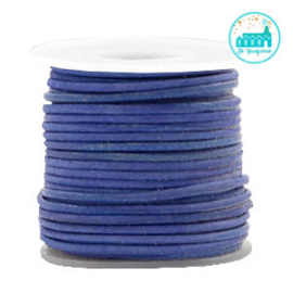 Round Leather String 1 mm Cobalt Blue