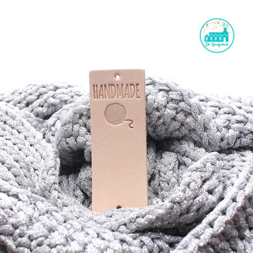 Big Labels  8 cm x 3 cm Handmade Bol Wol Groot