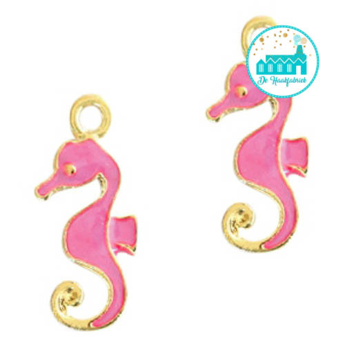 Charm Sea-Horse Pink 22 mm x 9 mm