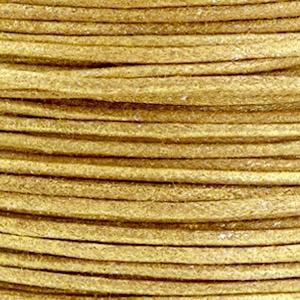Waxkoord metallic 1.0mm Golden brown