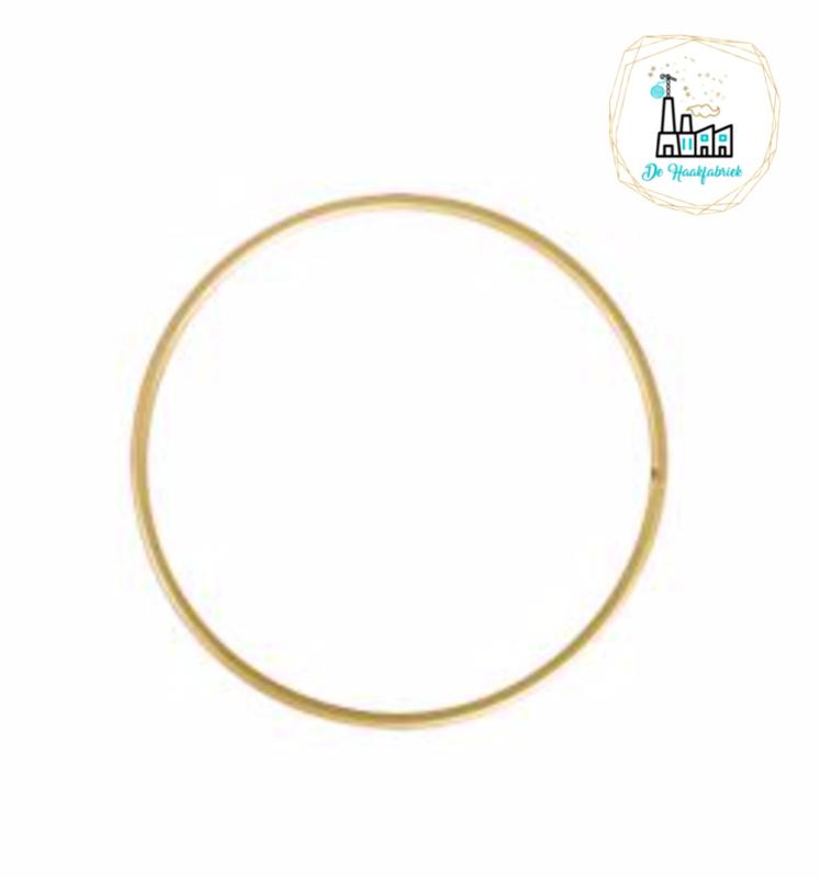 Metalen Ring 10 cm dikke kwaliteit Goud